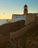 Algarve lighthouse, Portugal Royalty Free Stock Images