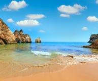 Algarve plaży Dos Tres Irmaos Portugalia Zdjęcie Royalty Free