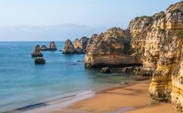 Praia Dona Ana in the morning, Lagos, Algarve, Portugal. Royalty Free Stock Image