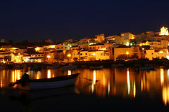 Algarve - Portugal. View of Ferragudo - a typical city of Algarve Stock Images