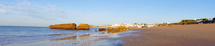 Algarve in Portugal. Panoramic image of Albufeira in Portugal Royalty Free Stock Photography