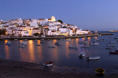 Algarve - Portugal. Ferragudo - a typical city of Algarve Royalty Free Stock Image