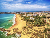Algarve, Portugal: aerial UAV photo of the coast Royalty Free Stock Image