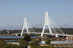 Algarve, Portugal - Cable Stayed Bridge Royalty Free Stock Photos