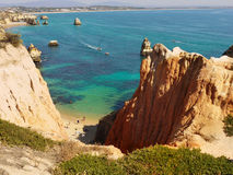 Algarve Portugal. Remarcable Algarve coast with cliffs and caves. Lagos Portugal Stock Images