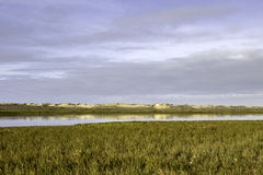 Algarve QDL landscape at Ria Formosa wetlands reserve, southern Stock Photos