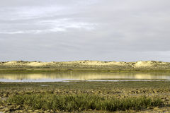 Algarve QDL landscape at Ria Formosa wetlands reserve, southern Royalty Free Stock Image