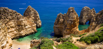 Algarve rock Stock Image