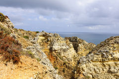 Algarve. Rock Formation in The Algarve Royalty Free Stock Photos