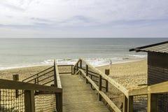 Algarve scenario footpatch cliff acess, at Falesia beach. Albufeira, Portugal Royalty Free Stock Photos