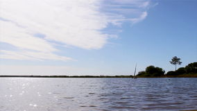 Algarve scenery time-lapse at Ria Formosa stock video footage
