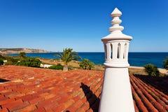 Algarve schoorsteen stock foto
