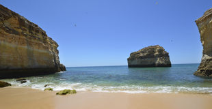 Algarve secluded Beach Cove Royalty Free Stock Image