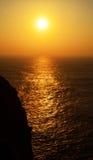Algarve solnedgång   Arkivbilder