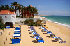algarve strand royaltyfria bilder