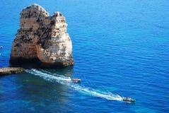 algarve strand portugal Royaltyfri Foto