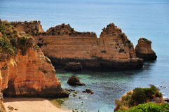 Algarve strand in Portugal Stock Afbeeldingen