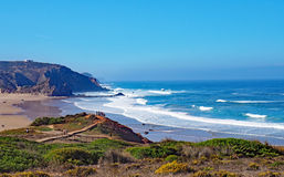 algarve strand portugal Arkivfoto