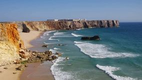 Algarve-Strand Tonel stock footage