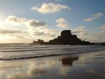 algarve strandcastelejo portugal Arkivbilder