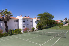 Tennis court in a private resort Royalty Free Stock Image