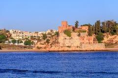 Algarve. View of the village of Ferragudo in Algarve Portugal royalty free stock image