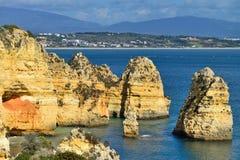 Algarve wybrzeże Zdjęcia Royalty Free