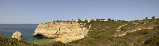 Algarve Yellow Cliffs Royalty Free Stock Images