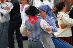 Algarvian folklore. Traditional folklore dancing with vintage costumes performed by the Grupo Etnografico da Serra do Caldeirao (Cortelha, Algarve royalty free stock images