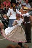 Algarvian folklore. Traditional folklore dancing with vintage costumes performed by the Grupo Etnografico da Serra do Caldeirao (Cortelha, Algarve Stock Photography
