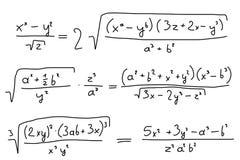 algebra Arkivfoton