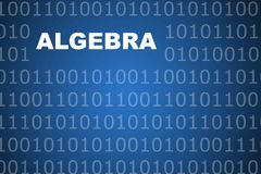 Algebra Abstract Background Royalty Free Stock Photo