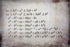 Algebra formula Royalty Free Stock Image