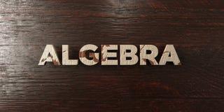Algebra - grungy drewniany nagłówek na klonie - 3D odpłacający się królewskość bezpłatny akcyjny wizerunek Zdjęcia Stock