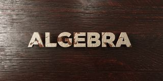 Algebra - grungy wooden headline on Maple  - 3D rendered royalty free stock image. This image can be used for an online website banner ad or a print postcard Stock Photos