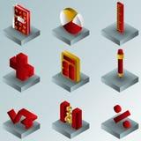 Algebra koloru gradientowe isometric ikony royalty ilustracja