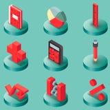 Algebra koloru isometric ikony Obrazy Royalty Free