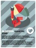 Algebra koloru isometric plakat royalty ilustracja