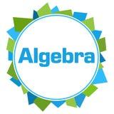 Algebra kształtów Zielony Błękitny Przypadkowy okrąg ilustracja wektor