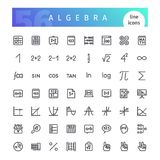 Algebra Line Icons Set Royalty Free Stock Image