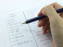 Algebra Mathematics. Doing some algebra stock image
