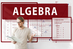 Algebra Mathematics Calculation Chart Concept royalty free stock photography