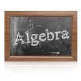 Algebra pisać na blackboard Fotografia Royalty Free