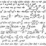 Algebra seamless background Royalty Free Stock Photos