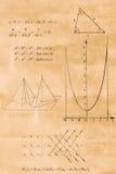 Algebra-, Trigonometrie- und Geometrieformel Lizenzfreie Stockfotos