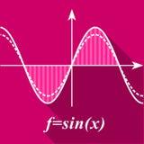 Algebra wykresu ikona, mieszkanie styl Obraz Stock