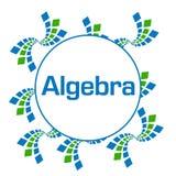 Algebra Zielony Błękitny abstrakt Obciosuje kurendę royalty ilustracja