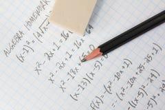 Algebraprobleme Stockbild