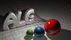 ALGEBRY 3D biel pisze blisko trzy sfer - 3D renderingu wideo ilustracja wektor