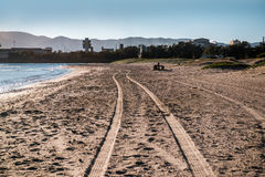 Algeciras empty beach Royalty Free Stock Photo